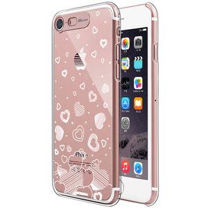 SG iPhone8/7 Clear Hard イルミネーションケース ハート ローズゴールド
