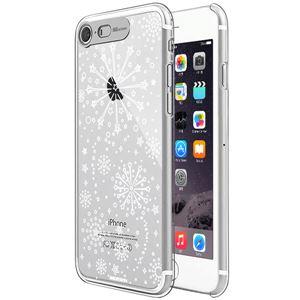 SG iPhone8/7 Clear Hard イルミネーションケース ファイヤーワークス シルバー