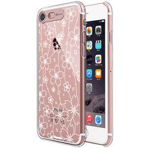 SG iPhone8/7 Clear Hard イルミネーションケース フラワー ローズゴールド