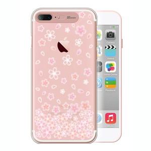 SG iPhone8Plus/7Plus Clear Hard Art イルミネーションケース ブロッサム ローズゴールド