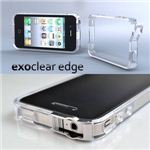 E304◆iPhone4S / iPhone4  バンパーケース exoclear edge (エクソクリア エッジ) Clear