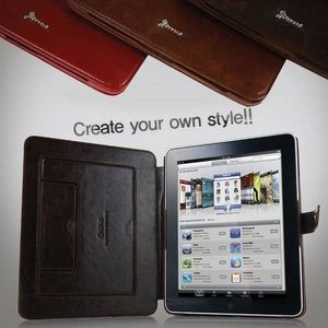 Z167iP★Vintage style★iPad1ケース 【2段スタンド付き】Classic Brown - 拡大画像