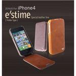 Z281i4★iPhone4S / iPhone4 対応ケース  E`stime Folder 本革 Gold Brown