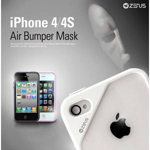 Z454i4S★iPHONE4/4Sバンパーケース Air Bumper Mask-Black White - 拡大画像