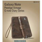 "Z997GNT★""GALAXY Note SC-05D""Vintage Diaryケース●100%イタリアン本革●"