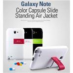 Z1006GNT★GALAXY Note SC-05Dケース WhiteBlack Capsule Stand Slide スタンド付