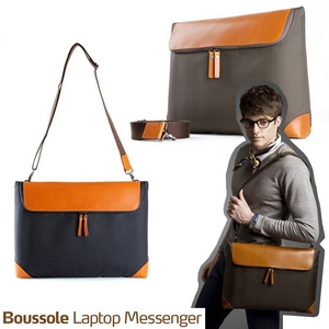 "boussole(ブソル) PC対応メッセンジャーバッグ 13""Laptop boussole messenger for MacBook Pro13 Navy  - 拡大画像"