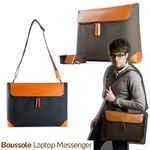 "boussole(ブソル) PC対応メッセンジャーバッグ 13""Laptop boussole messenger for MacBook Pro13 Navy"