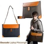 "boussole(ブソル) PC対応メッセンジャーバッグ 15""Laptop boussole messenger for MacBook Pro15 Khaki"