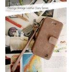 ★iPhone5★Prestige Vintage Leather Diary (mold type) (本革) Vintage Brown Z1399i5