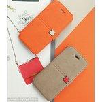 【iPhone5ケース】 カードポケット付き!! Masstige Color Point Diary- Gray