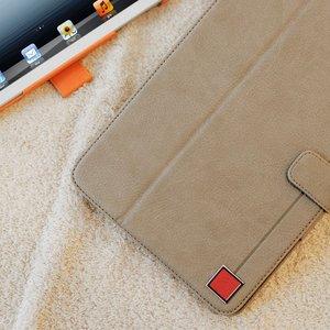 【iPad Mini ケース】★iPad Mini★iPad mini ケース オレンジ【スタンド、カードケース、ポケット付き!!】 機能性充実! Color Point 自動on/off