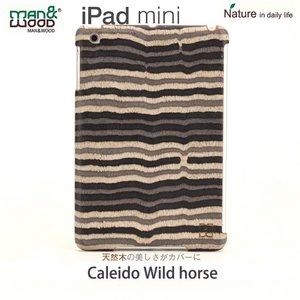 【man&wood】(iPad miniケース) Real wood case Caleido Wild horse