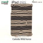 "【man&wood】(iPad miniケース) Real wood case Caleido Wild horse""ホース""(天然木!!!) I1835iPM"