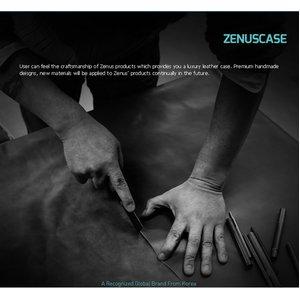 Z1764XZ【zenus】(Xperia Z SO-02E ケース) プレステージ ミニマル ダイアリー(本革(サフィアノレザー)) -White