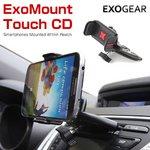【exogear】Exomount Touch CD (エクソマウントタッチCD) 3.5〜5.8インチ(高さ 5.5〜9センチ)の車載用スマートフォンホルダー