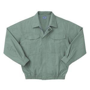 空調服 綿薄手長袖作業着 M-500U 【カラーモスグリーン: サイズXL】 電池ボックスセット