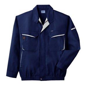 空調服 綿・ポリ混紡長袖作業着 K-500N 【カラー:ネイビー  サイズ XL】 - 拡大画像