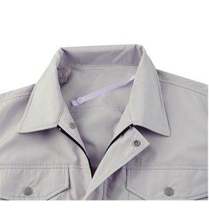 空調服 綿・ポリ混紡長袖作業着 K-500N 【カラー:シルバー  サイズ:M】