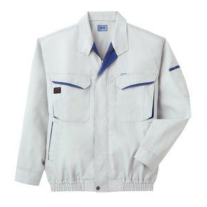 空調服 綿・ポリ混紡長袖作業着 K-500N 【カラー:シルバー  サイズ XL】 - 拡大画像