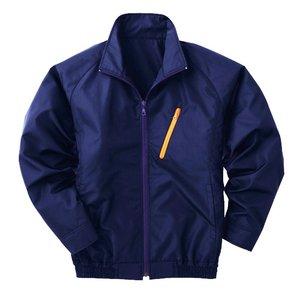 空調服 ポリエステル製長袖ブルゾン P-500BN 【カラー:ネイビー サイズ:XL】 電池ボックスセット