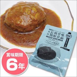 非常食 LLF食品 ハンバーグ煮込み100g  ×50パック ☆長期賞味期限6年以上 災害備蓄にも - 拡大画像