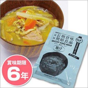 非常食 LLF食品 豚汁180g ×50パック ☆長期賞味期限6年以上 災害備蓄にも - 拡大画像