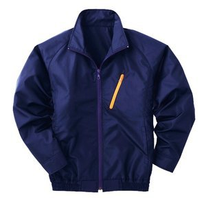 空調服 ポリエステル製長袖ブルゾン P-500BN 【カラー:ネイビー サイズ:M】 電池ボックスセット