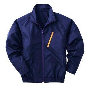 空調服 ポリエステル製長袖ブルゾン P-500BN 【カラー:ネイビー サイズ:L】 電池ボックスセット