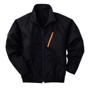 空調服 ポリエステル製長袖ブルゾン P-500BN 【カラー:ブラック サイズ:LL】 電池ボックスセット