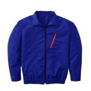 空調服 長袖ブルゾンワイドファンタイプ ブルー XL ブルー - 拡大画像