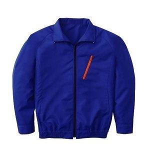 空調服 長袖ブルゾンワイドファンタイプ ブルー Lサイズ - 拡大画像