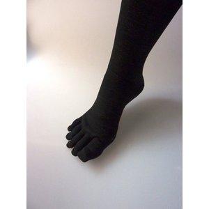 【特許取得済】消臭靴下「宇宙のくつ下」 5本指タイプ ブラック F - 拡大画像
