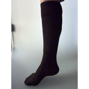 【特許取得済】消臭靴下「宇宙のくつ下」ハイソックス加圧タイプ ブラック F - 拡大画像