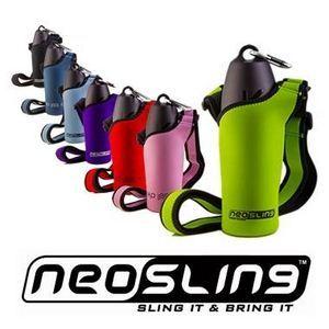 犬用お散歩携帯水筒「H2O4K9」 専用ボトルスリング(グリーン) - 拡大画像