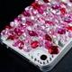 iphone4&4S デコケース ハンドメイド レッド&ピンクストーン - 縮小画像5