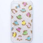 iphone4&4S デコケース ハンドメイド レオパード スワロフスキー