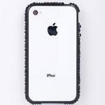 iphone4&4S デコケース ハンドメイド スタッズ ブラックスワロフスキー