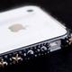 iphone4&4S デコケース ハンドメイド スタッズ ブラックスワロフスキー - 縮小画像3