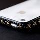iphone4&4S デコケース ハンドメイド スタッズ ブラックスワロフスキー - 縮小画像4