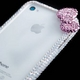 iphone4&4S デコケース ハンドメイド リボン ホワイト スワロフスキー - 縮小画像4