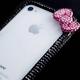 iphone4&4S デコケース ハンドメイド リボン ブラック スワロフスキー - 縮小画像4
