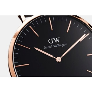 Daniel Wellington(ダニエルウェリントン)CLASSIC BLACK Rose gold 36mm Reading