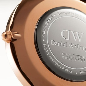 Daniel Wellington(ダニエルウェリントン)CLASSIC BLACK Rose gold 36mm Durham