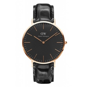 Daniel Wellington(ダニエルウェリントン) CLASSIC BLACK Rose gold 40mm Reading - 拡大画像