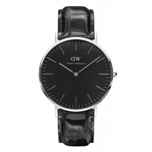 Daniel Wellington(ダニエルウェリントン)CLASSIC BLACK Silver 40mm Reading
