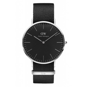 Daniel Wellington(ダニエルウェリントン)CLASSIC BLACK Silver 40mm Cornwall
