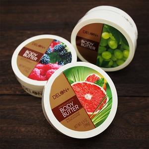DELONデロンボディバター【3個セット】ピンクGF&レモン/ラズベリー&カシス/グレープシード