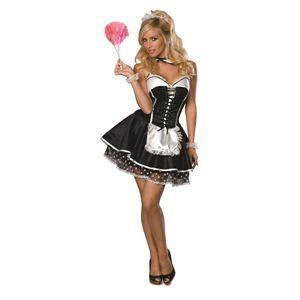 【コスプレ】 RUBIE'S(ルービーズ) SECRET WISHES(シークレットウィッシーズ) コスプレ Sexy Maid(セクシー メイド) Stdサイズ - 拡大画像
