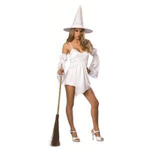【コスプレ】 RUBIE'S(ルービーズ) SECRET WISHES(シークレットウィッシーズ) コスプレ White Cauldron Witch(ホワイト カールドラン ウィッチ) Stdサイズ - 拡大画像